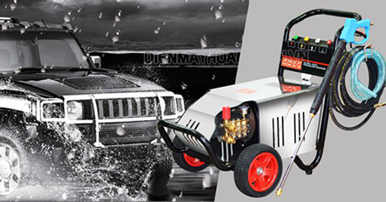 Máy rửa xe Lutian được thiết kế chuyên nghiệp, hiện đại, áp lực phun rửa lớn