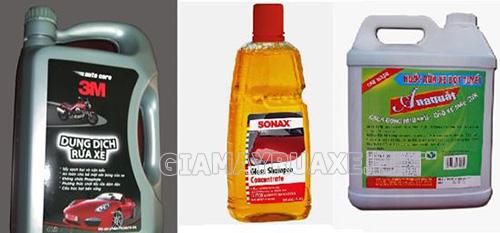 Có nhiều loại dung dịch rửa máy xe ô tô trên thị trường