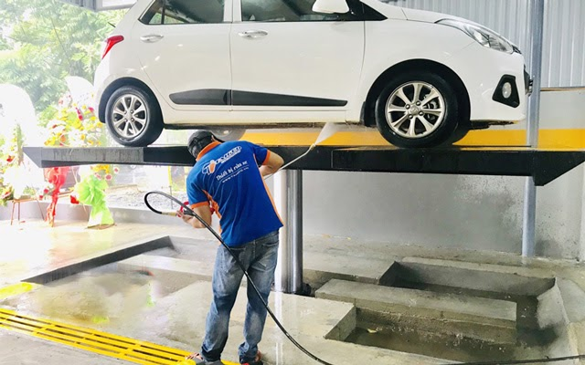 Mua cầu nâng 1 trụ rửa xe ô tô