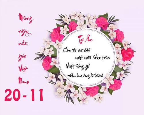 Những lời chúc 20/11 hay nhất dành cho thầy giáo