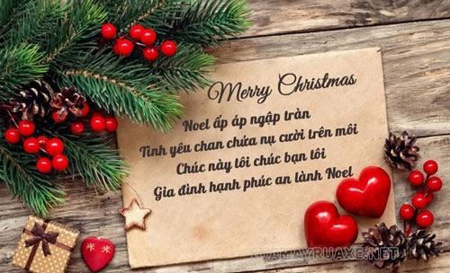 Lời chúc giáng sinh và năm mới hay nhất