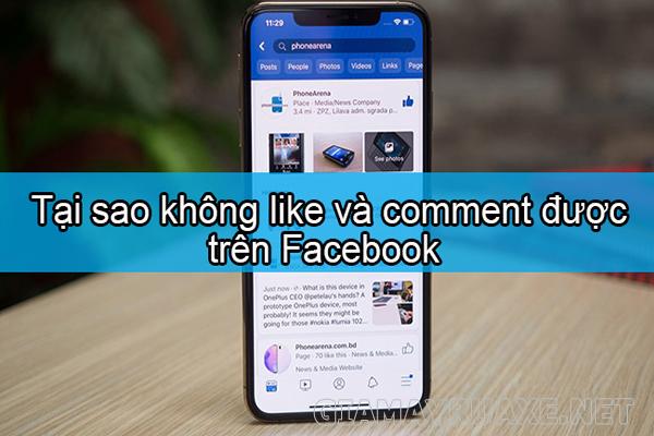 tại sao không bình luận được trên facebook